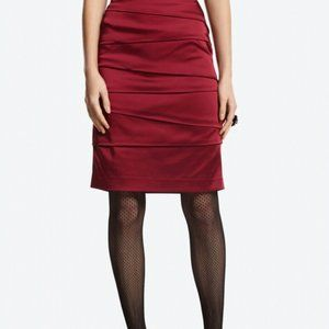 White House Black Market Ruby Satin Pencil Skirt